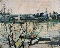 view of the thames by louise pickard