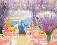 terrasse fleurie sur la riviera by louis fabien