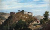 castello di caprese (ove nacque michelangelo) by pietro senno