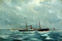 portrait of the danish steamer esbern-snare by poul baerentzen