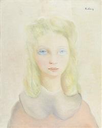 retrato de menina by moïse kisling