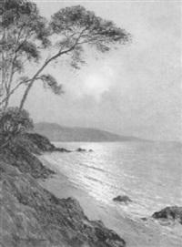 clair de lune sur la mer au cap roux esterel by jean keuléyan lafon