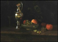 still life with silver pitcher by mary augusta hiester reid