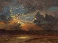 sunlit skies by albert bierstadt