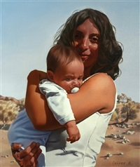 woman and child by boris leifer