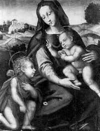 the madonna and child with the infant baptist by tommaso di stefano lunetti