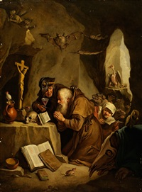 die versuchung des heiligen antonius by matheus van helmont