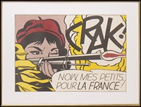 crak! now mes petits...pour la france by roy lichtenstein