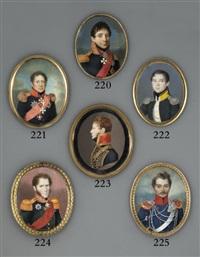 count keller, in profile to left, in military uniform of black coat by peter ernst rockstuhl