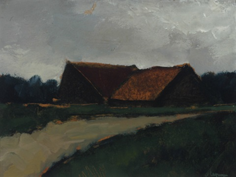 old barns by johan hendrik van ieperen