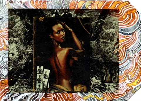 iman at hoggers kenya by peter beard
