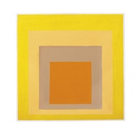 study for homage to the square: ripening by josef albers