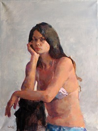 young lady by amnon david ar