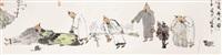 five minds drunken by liu jin'an