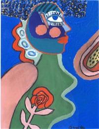 femme à la rose by corneille