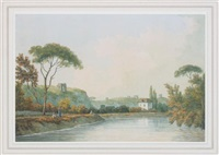 view on the tiber, rome by john warwick smith