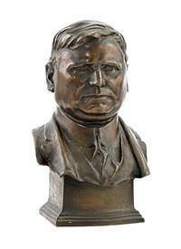 bust of a man (herbert hoover?) by adolph alexander weinman