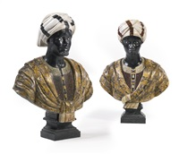 blackamoor busts (pair) by anonymous-italian