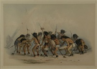 sioux buffalo dance, no. 8 (from north american indian) by george catlin