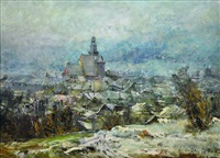 view on prachatice by oldrich blazicek