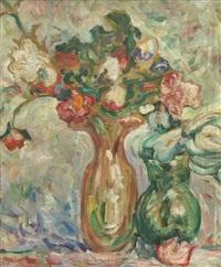 deux vases de fleurs by louis valtat
