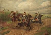 vorpreschende kavallerie by christian sell