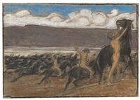 pferdebändiger by ludwig von hofmann