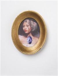 study for the november art issue cover of w magazine featuring a rococo portrait of nicki minaj as jeanne bécu comtesse du barry crying... by francesco vezzoli
