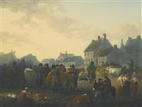 market day, masham, north yorkshire by julius caesar ibbetson