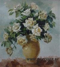 white roses by mirdza zeberga