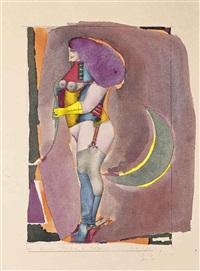 sans titre (femme debout aux éperons) by richard lindner
