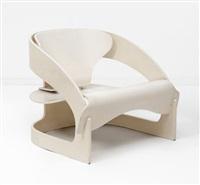 fauteuil, modèle n° 4801 by joe colombo