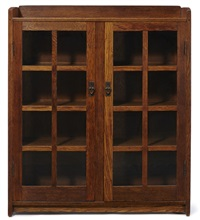 bookcase by gustav stickley