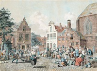 untitled - the town market by johannes huibert (hendric) prins
