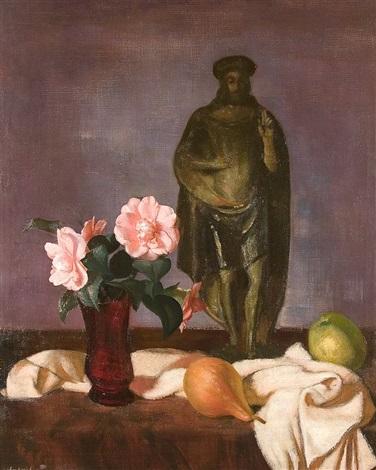 stilleben mit heiligenfigur by wilhelm lachnit