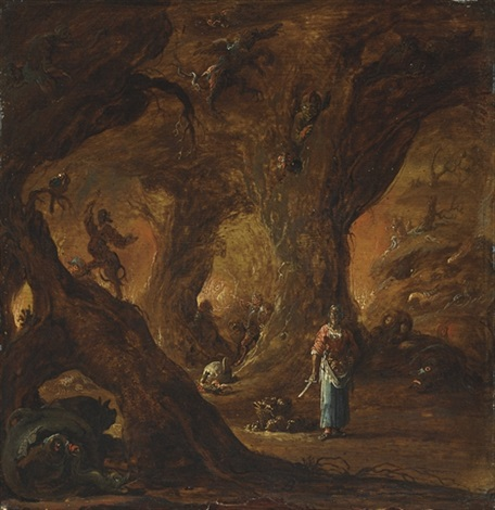 a sorceress in a wood surrounded by devils by daniel van heil