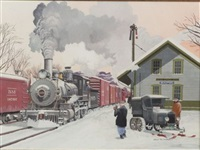 railroad station, bradford, new hampshire by arch mcdonnell
