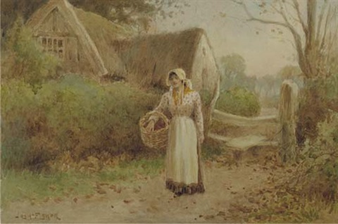 the primrose gatherers off to market pair by joshua fisher