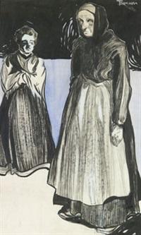 två kvinnor by axel torneman
