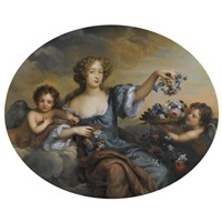portrait of frances jennings, lady hamilton and later duchess of tyrconnel (c.1649-1731) as flora, attended by putti by henri gascars