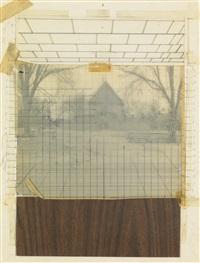 study for williamsburg pagoda by richard artschwager