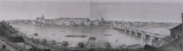 panorama de basle prise du café du pont by rudolf huber