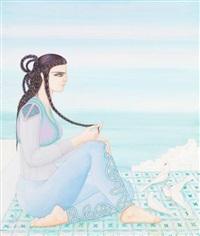 femme au quatre colombes by jellal ben abdallah