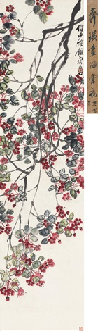 海棠 chinese flowering apple by qi baishi