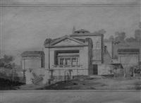 la villa pia au vatican by louis hippolyte le bas