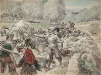 escena de batalla by eugenio alvarez dumont