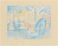 in den champs-élysées by henri edmond cross
