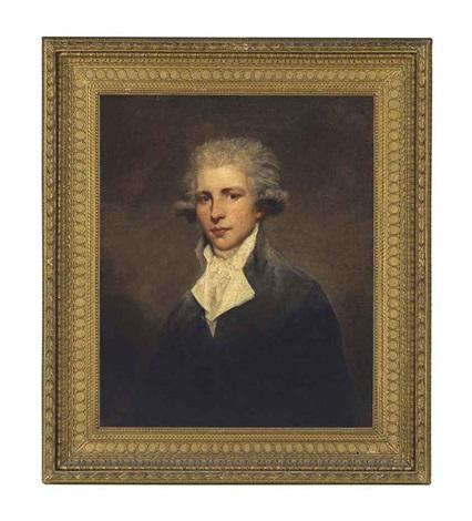 portrait of sir john st aubyn 5th bt mp 1758 1839 half length in a dark coat and neckcloth by joshua reynolds
