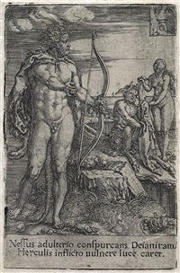 the labors of hercules (8 works) by heinrich aldegrever