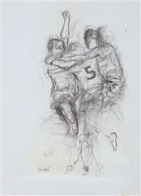 partita a calcio by alberto sughi
